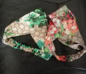 Lüks Tasarımcı% 100 İpek Çapraz Kafa Kadınlar Kız Elastik Saç bantları Retro Turban Headwraps hediyeler Çiçekler Hummingbird Orkide