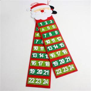 Noel Baba Lockscreen Takvim Duvar kolye Süsleme Kardan Adam Takvimler Ev Partisi Pazar Aksesuarlar Popüler Stil 8xbH1 Geri Sayım