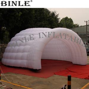 Circulaire tente géante blanche dôme gonflable avec de superbes lumières LED de la maison de danse disco pour la fête