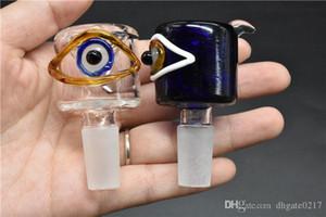 Gass Tobacco smoking Bowls Colorful Eye Ball Male Glass Bowl 18.8mm 14mm Glass Bong Bowls 14.4mm 18mm Water Pipes Tobacco Bowls Heady