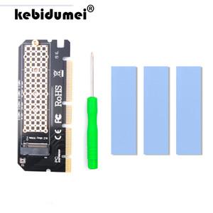 إضافة على بطاقات kebidumei 0.2 NVE PCIE إلى M2 محول LED NVME SSD M2 PCIE x16 والتوسع بطاقة الكمبيوتر محول واجهة M.2