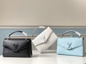 2020 üst tek m55981,23.5cm erken bahar yeni kadın çantası poşet grenelle tek omuz eğik çantası, su dalgalanma çanta