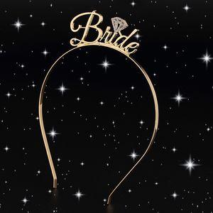 1pc mariée demoiselle d'honneur diadème couronne bandeau Bachelorette partie mariée à être de mariage nuptiale douche filles nuit décoration cadeaux