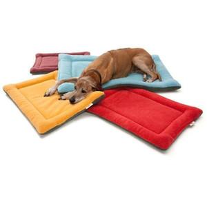 겨울 개 침대 매트 부드러운 애완 동물 쿠션 패드 따뜻한 개 담요 강아지 집 고양이 잠자는 고양이 작은 고양이 대형 개를위한 애완 동물 고양이 양털 침대