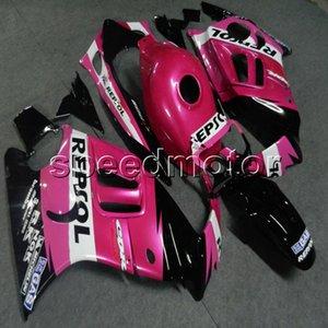 23 renkler + Vidalar HONDA 97 98 CBR600 için pembe motosiklet Fairing hull 1997 1998 ABS motor Fairing