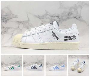 ADIDAS 2019 Yeni Ucuz Düşük OG Shell-Toes Klasik Paten Ayakkabı Beyaz Demin Mavi Elmas Rahat Bağbozumu Tasarımcı Eğitmeni Sokak Spor Sneaker