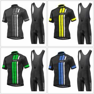 GIANT team ركوب الدراجات قصيرة الأكمام جيرسي (مريلة) السراويل مجموعات حار بيع ملابس الصيف الرجال نمط دراجة يمكن خلط حجم F520