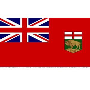 Kanada Kapalı Açık UÇAN Asma Kanada Devlet Manitoba Bayrağı 3x5ft Polyester Baskı Özel Devletleri Bayraklar