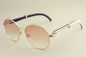 2019 الجديدة الشحن المجاني الساخن بيع جولة إطار النظارات الشمسية النظارات الشمسية 19900692، الرجعية قناع الأزياء الشمس، وأبواق مختلطة الطبيعية مرآة الساقين sunglas