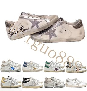 Italy Old Style Fashion Multicolor Golden Superstar Gooses Sneakers Men Women Classic White Do-old Dirty Shoes Casual Shoes Size 35-45