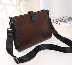 Satchel Bag Homens PU Cruz Casual Shaped Longo Square Business Cruz 3colors saco de corpo