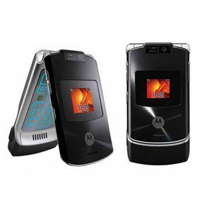 Motorola Razr V3XX оригинальный GSM разблокированный восстановленный мобильный телефон флип камера мобильного телефона Bluetooth для резервного копирования Elder