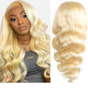 Mel loira Lace Wigs para Mulheres Moda Ombre perucas loiras para as Mulheres Brown Enraizado Perucas uk Melhor Frente Cabelo Humano Lace Wig Natural