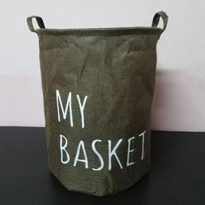 Большой складной одежды Прачечная Корзина Ткань для хранения Корзина Бытовая Организация Одежда Складной ящик для хранения одежды Bucket DH1220 T03