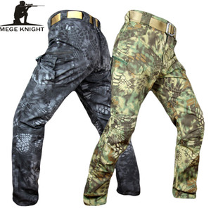 Mege Ritter-Band-Kleidung Tactical Military Camouflage-Hosen Männer Rip-Stop SWAT Soldat Kampfhose Militar Arbeit Armee Outfit CJ191201