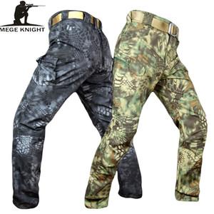 Pantalones mege Knight Banda ropa táctica militar de camuflaje hombres Rip-stop SWAT soldado de combate Pantalón Militar Ejército trabajo traje CJ191201