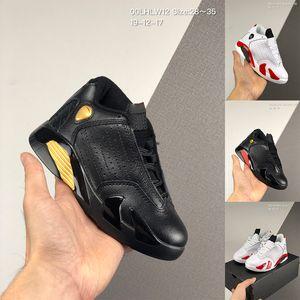Kids sneaker 14 XIV Shoes Candy Cane White Varsity Red BLACK Gold Chlidrens 14s Last Shot DMP Basketball Shoes Big Boys Girls sports sneaker