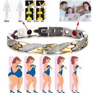 Disegno del drago Tourmaline salute magnetica Energia bracciale unisex 4 colori Bracciale in acciaio inossidabile