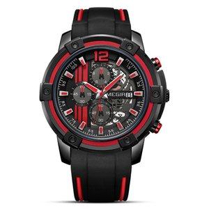 Top Brand Mens Sport Guarda Silicone Band Big Quadrante Military Chronograph Chronograph Orologi da uomo Orologio Relogio Masculino Reloj Hombre