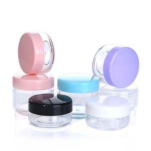 Plástico multicolores cosméticos contenedores Jar PS Casos capacidad de los cosméticos caja 10g 15g 20g crema facial de almacenamiento caso del maquillaje de las cajas de almacenamiento B3401