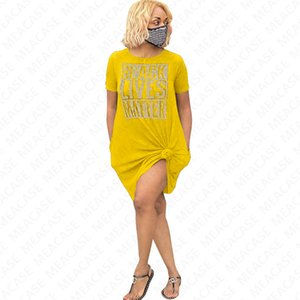BLACK LIVES MATTER Designer letters Tshirt Oversize Summer T shirt Dress Loose Tees with Packet Fashion Dresses Casual Clothing Skirts D7210