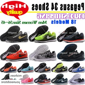 Drop Shipping Brand New Mens Womens Zoom Pegasus 34 Casual Men Running Shoes Cheap 18 Colors 2018 Fashion 34S Mesh Sneakers