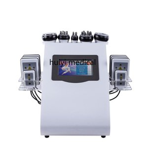 2020 New Arrival !6 In 1 40K Ultrasonic Cavitation Vacuum Radio Frequency Laser 8 Pads lipo Laser Slimming Machine for home use