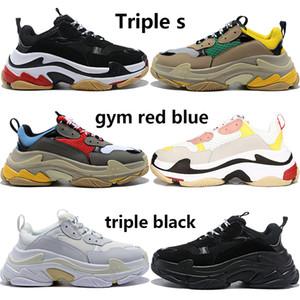 triple nero degli uomini le donne bianche di 2020 paia triple s scarpe papà casuali beige giallo verde grigio mens rosa stilista scarpe da tennis US 5,5-11