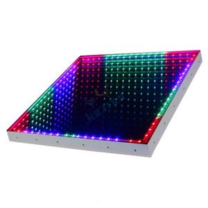 2Pcs Hot Sell DMX 3D Time Tunnel RGB LED Light Dance Floor For Nightclub Wedding