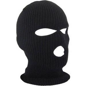 Máscara de cubierta de cara completa Tres 3 agujeros Balaclava tejer sombrero de invierno Mascarilla de nieve Sombrero Beanie Hat Cap New Black Warm Face Masks