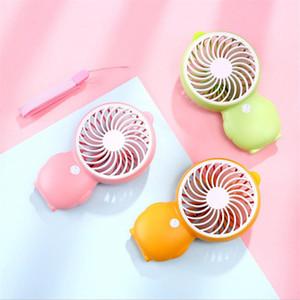 만화 미니 USB 데스크 팬 귀여운 오리 펭귄 내장 배터리 2 스피드 Sumer 소녀를위한 충전식 팬 냉각