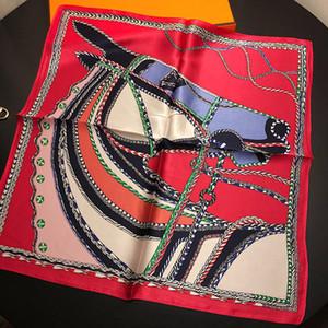 Soie Foulard Femmes Swift Horse Impression Foulards Carrés Mode Wraps Femme Foulard petit Hijab Châle Foulard