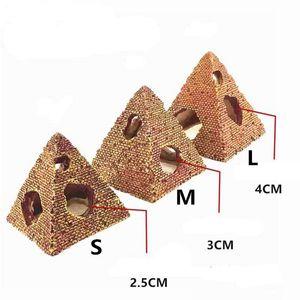 S / M / L Balık Tankı Akvaryum Reçine Süsleme Mısır Piramit Rockery Mağarası Desert Tema Ev Dekorasyon Dekor gizlenmesi