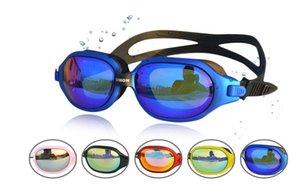 Новый большой кадр плавательные очки водонепроницаемый туман доказательство высокого разрешения Electroplated противотуманным УФ Protecion плавательные очки для взрослых Мужчины Женщины
