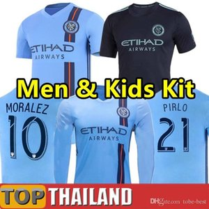 New York City FC 2019 Home Blue Soccer Jersey nycfc MLS PIRLO MORALEZ LAMPARD DAVID VILLA MCNAMARA MEDINA Football Shirt 2XLTop Quality