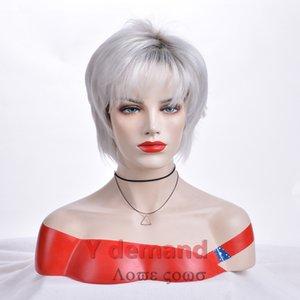 Fête des mères meilleur cadeau perruque maman synthétique cosplay perruque Halloween Costume partie perruques de cheveux pour femmes dames élégante coiffure courte femme perruque