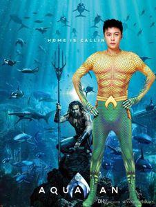 Aquaman Cosplay Hommes Vêtements Halloween Designer Hero Tenues Thème du costume Fantaisie Robe de soirée et vêtements de carnaval