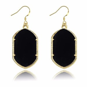 Luxus Kendra Geometric Chandelier-Ohrringe Große große lange Acryl baumeln Ohrringe für Frauen Scott Designer-Modeschmuck Geschenk