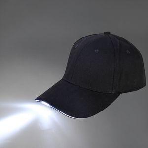 La luce LED unisex Cappello luminoso Cap con pulsante batteria esterna Berretto da baseball per barbecue Escursionismo Pesca Sport Uomo Donna Sport Caps 3 colori
