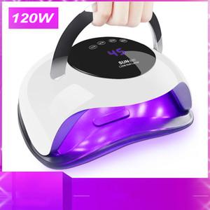 120W haute puissance ongles Sèche rapide LED Speed Gel lumière Durcissement Nail Lampe UV Lampes pour tous les types de gel et avec minuterie Smart Sensor