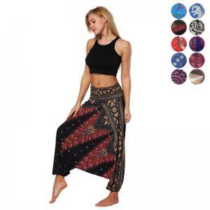 Pantaloni da donna Harem Beach Yoga Thai Flowy Comodo Baggy Boho Gypsy Hippie Pantaloni Harem Pants Pantaloni Aladdin Yoga LJJW78