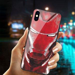 Frete grátis Vidro temperado Marvel Homem de Ferro a caixa do telefone para iphone X XS más 6 6s 7 8 mais casos ironman Marvel PARA IPHONE 11 PRO MAX TAMPA