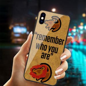 Frete grátis temperado dos desenhos animados de vidro The Lion King Telefone para iPhone X XS más 6 6s 7 8 mais casos Rei Leão para iPhone 11 PRO MAX TAMPA