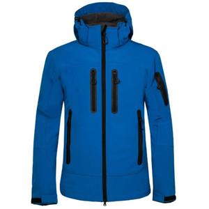 Giacca Mens Outdoor Solid traspirante antivento escursione del campeggio Softshell Jacket solido con cappuccio correnti di sport Cappotti Designer Mens Jacket 05