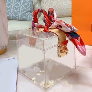 Роскошный дизайнерский бренд Макияж сумка Косметическая сумка сумки Кошельки Мода Clear Прозрачный L Письмо ПВХ Шелковый шарф Женщины бумажники Работа