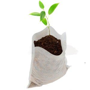 Impianto Grow Borse 8 * 10cm piantina vasi biodegradabili non tessuto Nidi Borse giardino della casa del rifornimento 100pcs / set OOA7897