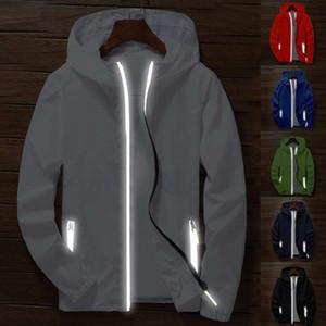 Mode unisexe UV Protect Veste coupe-vent imperméable à capuche Zipper Outwear Manteau Manteau à capuche imperméable hommes d'hiver