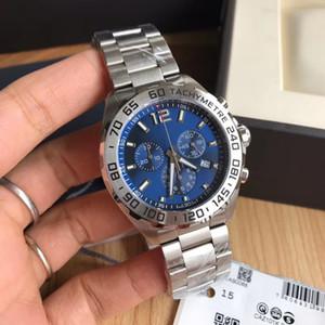relógios de luxo atacado relógio de quartzo Super 43 milímetros luminosa entrega gratuita suíço quartzo movimento de safira f1 dos homens BA0842 multi-função de temporização
