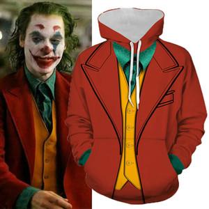 Origen Joker Joker Película 2019 Joaquin Phoenix Arthur Fleck de impresión en 3D sudadera con capucha hombres / hip hop sudaderas con capucha ropa informal
