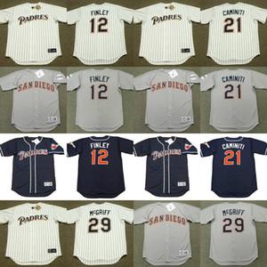 camiseta de San Diego Steve Finley 12 21 29 Ken Caminiti Fred McGriff 14 CARMELO MARTINEZ 15, Bruce Bochy 16 Terry Kennedy béisbol